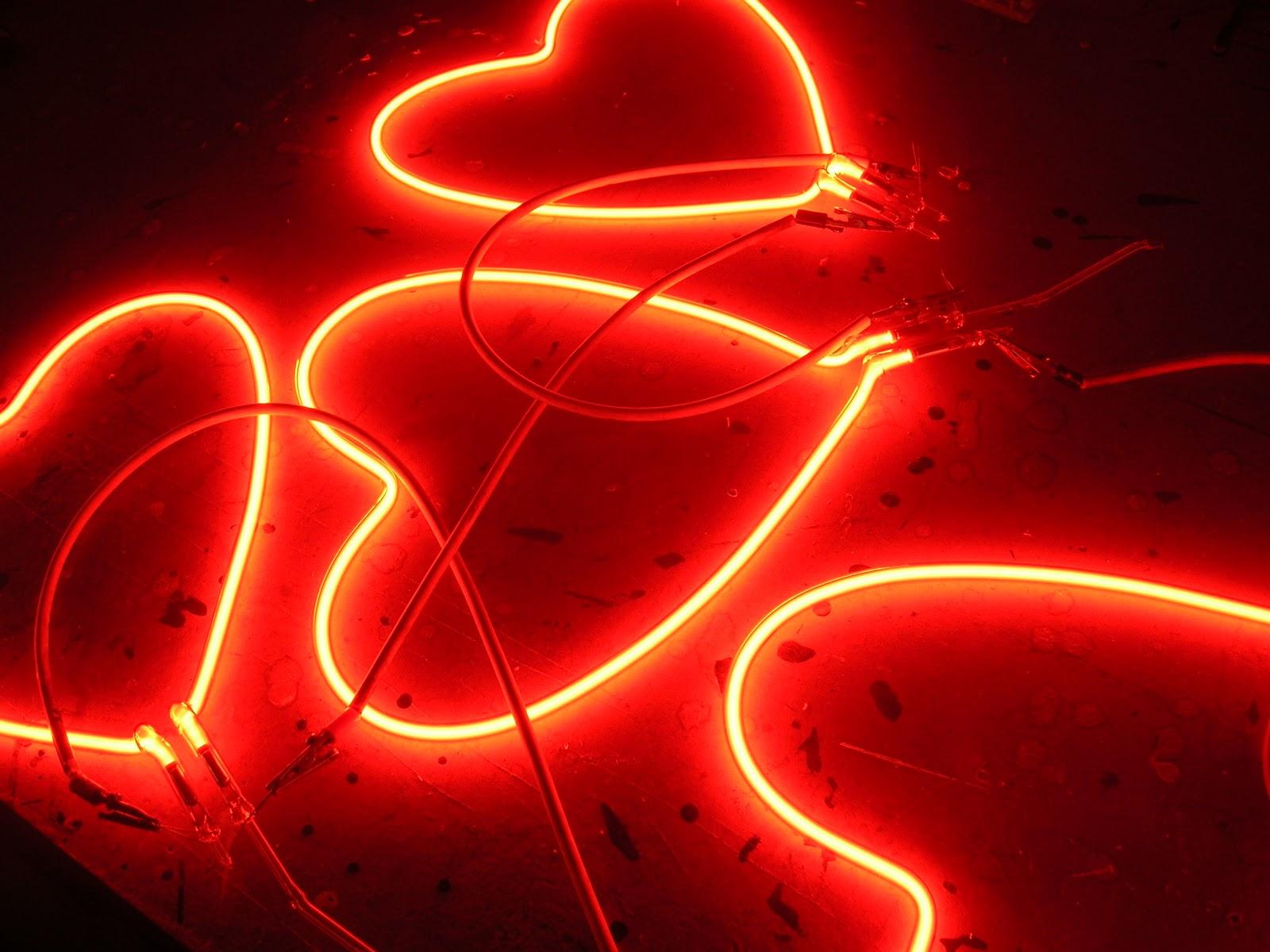 valentine's day neon heart 3